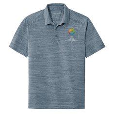 Camisa polo de tela jaspeada y elastizada de Port Authority®