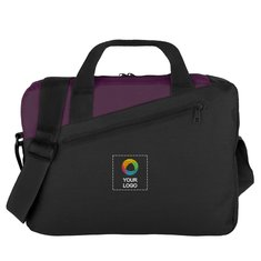Two-Tone Conference Embroidered Briefcase