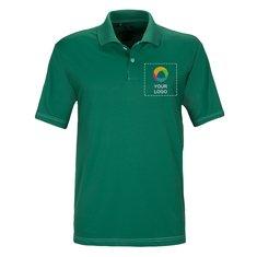Camisa polo adidas® ClimaLite® de puntadas contrastantes de manga corta