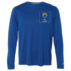 a078fd3eeea67 Camiseta jaspeada de alto rendimiento Vapor de manga larga de Champion®