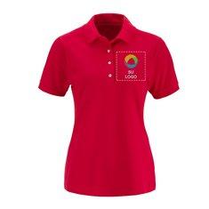 Camisa polo Jerzees® de tejido piqué de algodón hilado por anillo (ringspun) de 6.5 onzas, de manga corta, para dama
