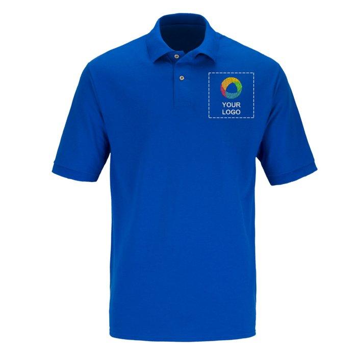JERZEES® Ring-Spun Cotton Pique 6.5-Ounce Men s Short Sleeve Polo Shirt 138a43e526e1e