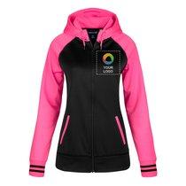 Sport-Tek® Ladies Sport-Wick® Varsity Fleece Full-Zip Hooded Jacket