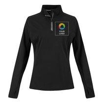 Sport-Tek®Ladies Sport-Wick®Textured 1/4-Zip Pullover