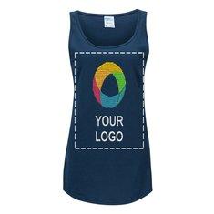 Camiseta sin mangas Core de algodón para dama para impresión por serigrafía de Port & Company®