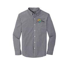 Camisa Broadcloth a cuadros gingham de Port Authority®