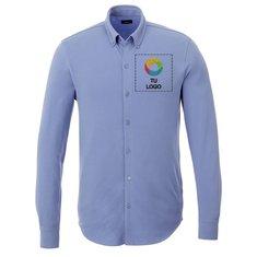 Camisa de piqué de manga larga Bigelow de Elevate™ para hombre