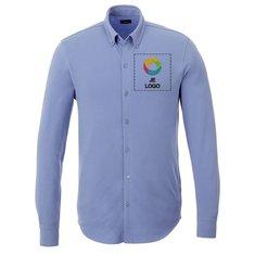 Elevate™ Bigelow piqué t-shirt met lange mouwen voor heren