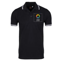 Grass Men's Double Tipping Polo T-Shirt