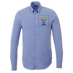 Langärmeliges Herren-Pikee-Shirt Bigelow von Elevate™