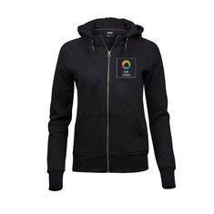 Tee Jays® Ladies Fashion Zip Hooded Sweatshirt