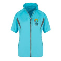 Elevate Powell Women's Short Sleeve Full Zip Wind Jacket