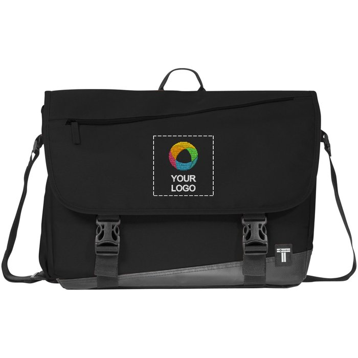 "Tranzip 17"" Embroidered Computer Daily Messenger"