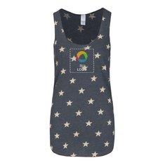 Camiseta sin mangas de espalda cruzada Alternative® Meegs impresa de jersey ecológico para damas