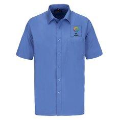 Kortærmet Russell™ poplinskjorte til mænd med let vedligehold