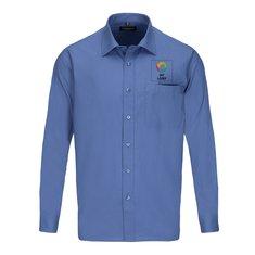 Langærmet Russell™ poplinskjorte til mænd med let vedligehold