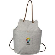 Field & Co.® Harper mulepose i bomuldslærred med løbesnor