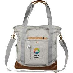 Bolsa de lona de algodón con cremallera Harper de Field & Co.®