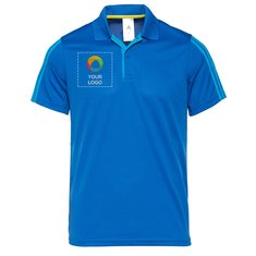 Adidas 3 stripe Polo T-shirt Blue