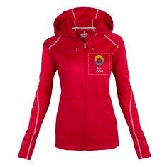Suéter con capucha Elevate Tonle con cremallera completa para mujer