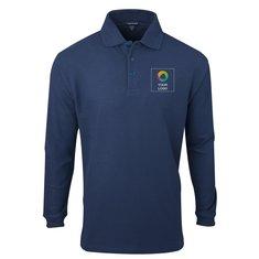 Elevate Donner Men's Long Sleeve Polo Shirt