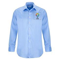 Camisa Calvin Klein® de Micro Pincord de manga larga y fácil mantenimiento