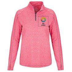 Suéter tejido Elevate Taza con cremallera de 1/4 para mujer