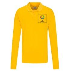 CottoVer® GOTS Pique Heren Poloshirt met Lange Mouwen , herenpoloshirt met lange mouwen, gepersonaliseerd heren poloshirt