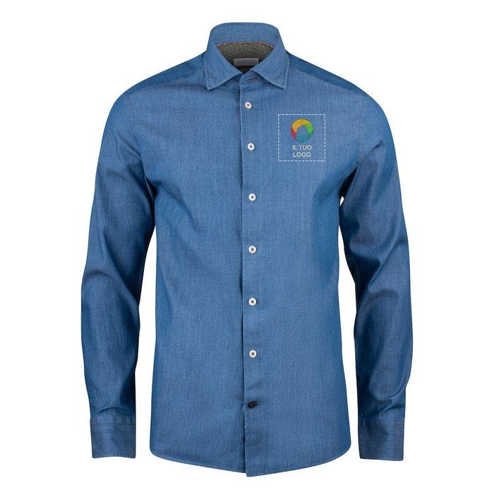 Camicia con vestibilità normale Indigo Bow 130 J.Harvest & Frost