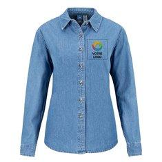 Chemise pour femme à manches longues en denim Port& CompanyMD