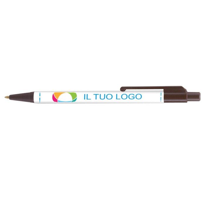Penna Newcastle con inchiostro nero e stampa digitale full color