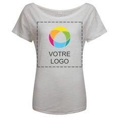 T-shirt femme ample en coton biologique flammé Vintage de Mantis™