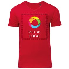 T-shirt homme à col en V en coton biologique de B&C™