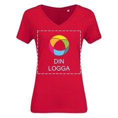 B&C™ ekologisk V-ringad T-shirt i dammodell