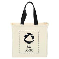 Bolsa de lienzo de algodón de 5 onzas para compras Bullet Natural