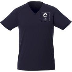 Elevate™ Amery kortärmad cool fit-tröja i herrmodell med v-ringning