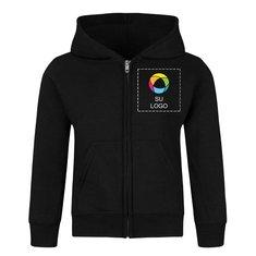 Sudadera con capucha y cremallera completa Precious Cargo® Core Fleece para niños pequeños