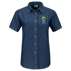 Port & Company® Ladies Short Sleeve Value Denim Shirt
