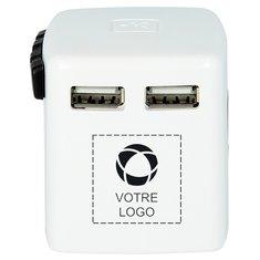 Adaptateur chargeur USB de voyage pour l'étranger SKROSS