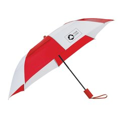 Auto Open Vented Folding Umbrella