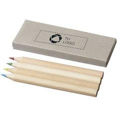 Caja de 4 lápices de colores de Bullet™