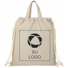 Bolsa reciclada de algodón de 4 onzas con cordón de cierre