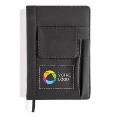 Carnet avec pochette pour téléphone.