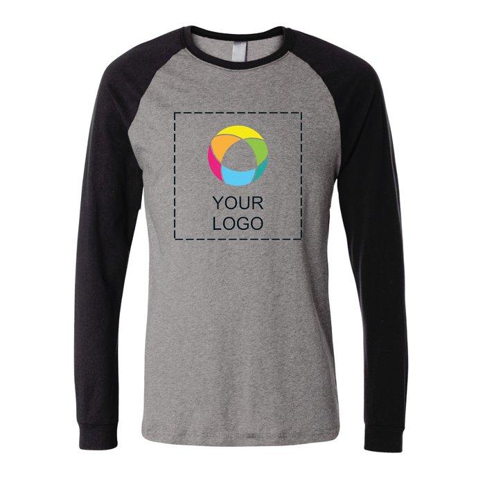 85917fd7a Bella + Canvas Long Sleeve Baseball Jersey T-Shirt