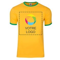 T-shirt Ringer homme Fruit of the Loom®