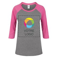 T-shirt pour femme à manches raglan 3/4 Perfect TriMD District MadeMD