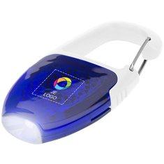 Bullet™ reflectorlichtje en sleutelhangerlampje met karabijnhaak en full-colour drukwerk