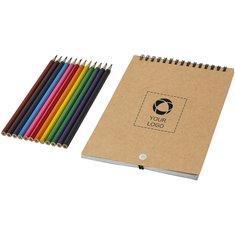 Kit para colorear con libreta de espiral Claude de Bullet™