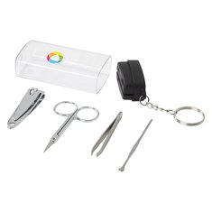 Kit portatile per manicure Seki Bullet™ con stampa a colori