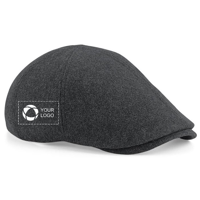 Beechfield Melton Wool Ivy Cap with Single-Colour Print